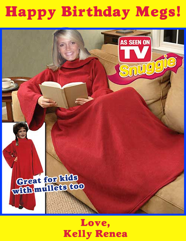 Kelly showing off her mad Photoshop Skillz. You forget to copy and paste in the Complimentary Booklight.