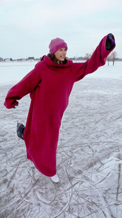 Alicia training for the 2010 Winter Olympics. Snuggie Figure Skating 2010. Perhaps by 2014 the world can accept Snuggie Hockey. Do you believe in Miracles?
