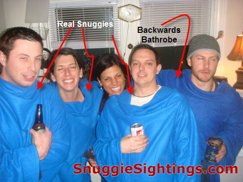 Can you spot the fake Snuggie?