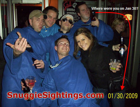 Great Moments in Snuggie History - January 30, 2009 - Cincinnati, Ohio