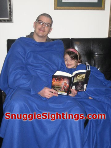 Star Wars Snuggie - Michael reminds us all that every day is Take Your Daughter to Snuggie day.