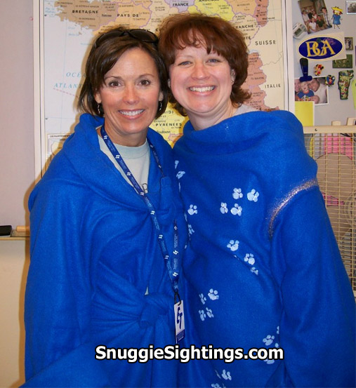 Tammye and Holly show True Snuggie Grit.