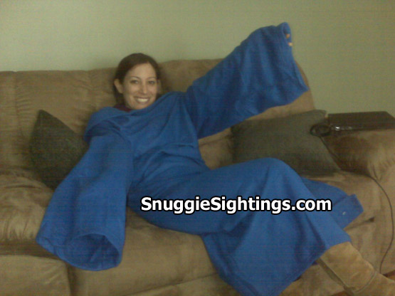 I Can't Lower My Arms! Courtney is afflicted with the Snuggie Restless Arm Syndrome