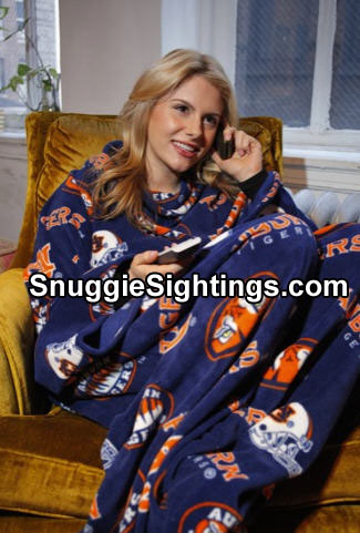 You can talk on the phone and flip channels while wearing your Auburn Snuggie.